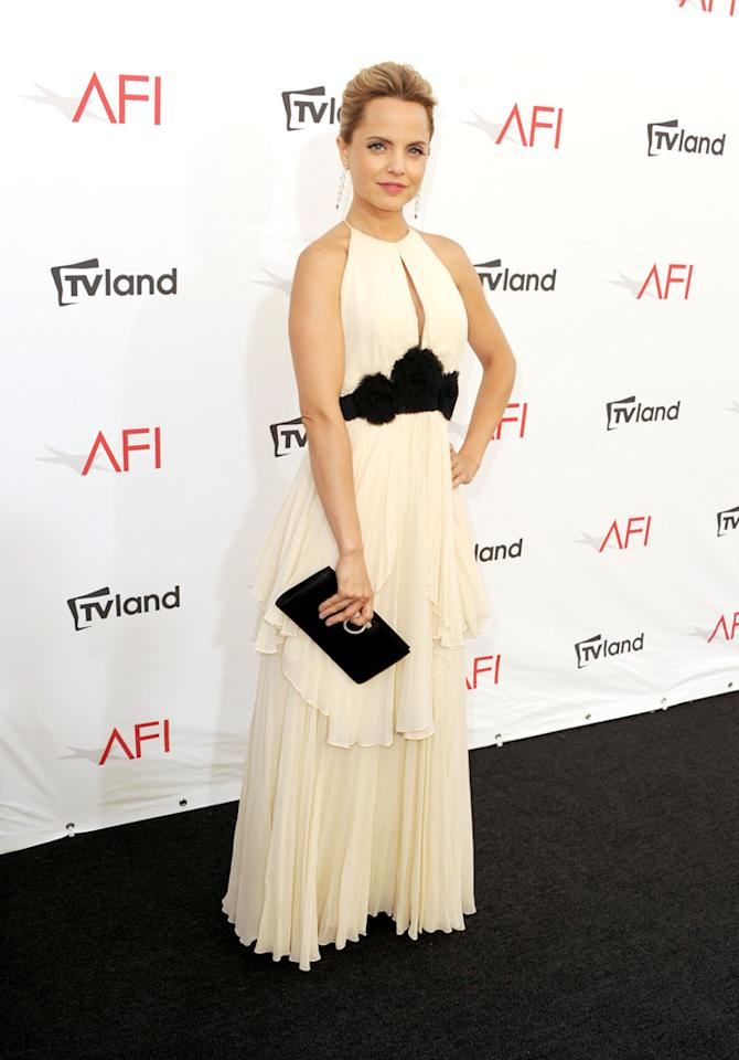 Mena Suvari arrives at AFI's 40th Annual Life Achievement Award held at Sony Pictures Studios on June 7, 2012 in Culver City, California.