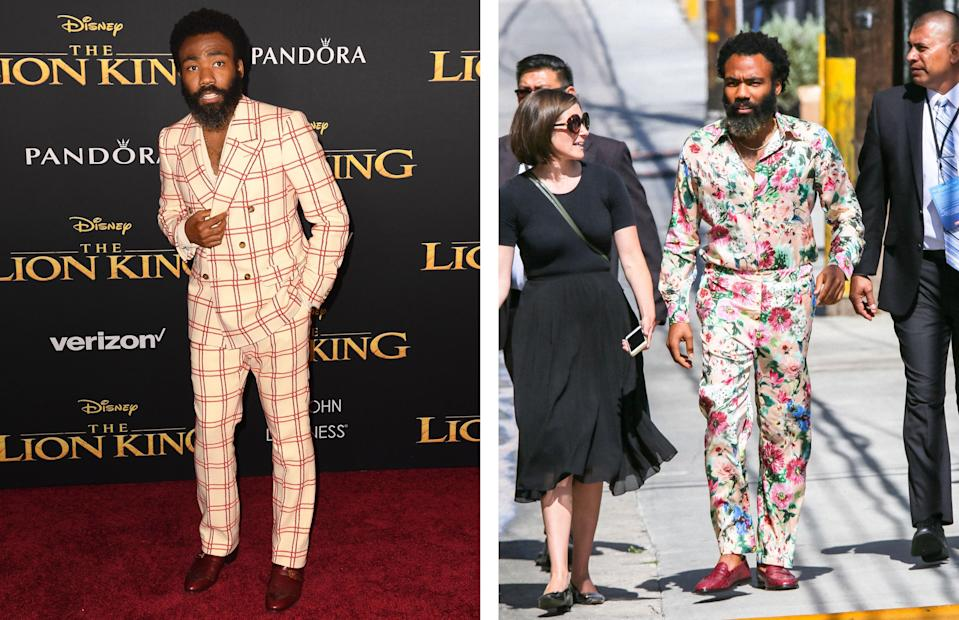 """<h1 class=""""title"""">July 10: Donald Glover</h1> <div class=""""caption""""> One day, two massive fits. </div> <cite class=""""credit"""">Getty Images</cite>"""
