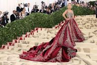 "<p>If fashion is your group's forte, collate a load of <a href=""https://www.elle.com/uk/fashion/g25746956/golden-globes-best-red-carpet-looks/"" rel=""nofollow noopener"" target=""_blank"" data-ylk=""slk:red carpet"" class=""link rapid-noclick-resp"">red carpet </a>moments (the <a href=""https://www.elle.com/uk/fashion/celebrity-style/articles/g31712/best-met-gala-red-carpet-dresses-all-time/"" rel=""nofollow noopener"" target=""_blank"" data-ylk=""slk:Met Gala is a great mood board for this"" class=""link rapid-noclick-resp"">Met Gala is a great mood board for this</a>) and get teammates to guess the designer behind the famous looks.</p><p>If some members of the team might not be as clued up when it comes to the names behind the creations (we're looking at you, Dad) then crop the celebrity's face and ask them to recall the A-Lister wearing the beautiful dress, too. </p>"