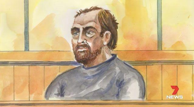 A court sketch of Reeves. Source: 7News