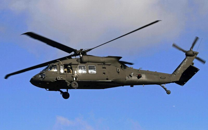 A US Army Black Hawk helicopter. File picture - EPA