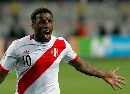 Soccer Football - Peru v New Zealand - 2018 World Cup Qualifying Playoffs- National Stadium, Lima, Peru - November 15, 2017. Peru's Jefferson Farfan celebrates after scoring. REUTERS/Douglas Juarez/Files