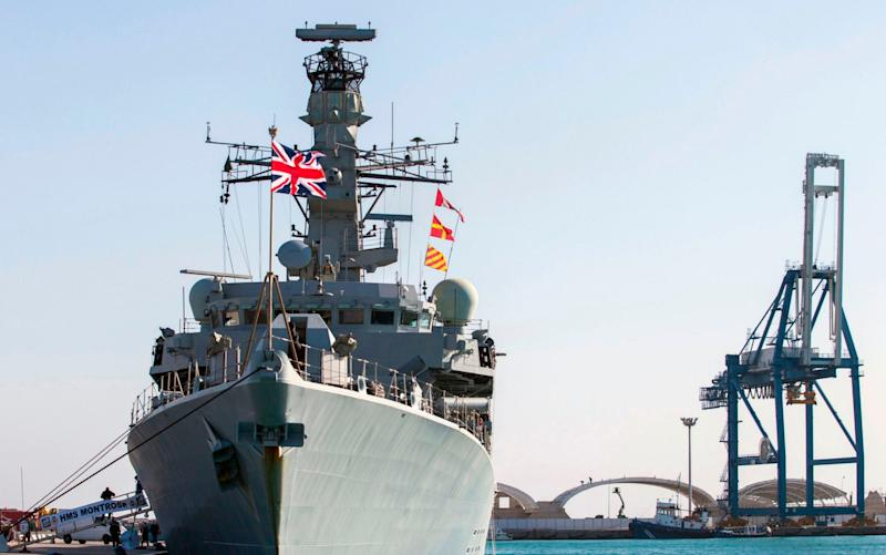 HMS Montrose will be joined by a second warship - AFP