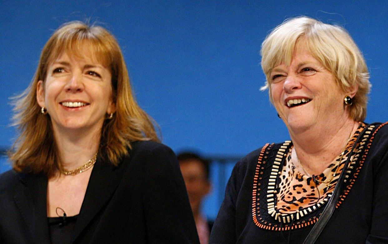 (L-R) Entrepreneur, Rachel Elnaugh and Ann Widdecombe, MP for Maidstone and The Weald.   (Photo by Chris Ison - PA Images/PA Images via Getty Images)