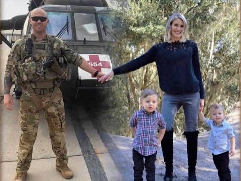 A woman Photoshopped her family's Christmas card to include her military husband who's serving overseas