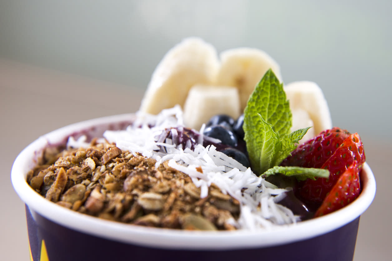 "<p>The açaí berry is <a href=""http://www.thedailymeal.com/cook/3-delicious-snacks-you-can-make-acai?referrer=yahoo&category=beauty_food&include_utm=1&utm_medium=referral&utm_source=yahoo&utm_campaign=feed"">a trendy smoothie bowl staple</a>, but Ryan Neinstein, MD, of Neinstein Plastic Surgery in New York City is not convinced. The doctor notes that although the berry itself ""may have a lot of antioxidant properties… The problem is that most people are not just eating açaí. The bowls are more popularly eaten with add-ons such as nut butters, seeds, and more fruit. With the addition of some of these foods, calories and sugar increase significantly. Before purchasing any açaí bowl, I would warn patients to check your nutrition facts, since you may be essentially buying a banana split!"" This plastic surgeon's advice suggests that eating fewer calories will lead to weight loss — <a href=""https://www.thedailymeal.com/healthy-eating/health-myths-stop-believing/slide-2?referrer=yahoo&category=beauty_food&include_utm=1&utm_medium=referral&utm_source=yahoo&utm_campaign=feed"">a nutrition myth that's not necessarily true</a>. Additionally, ingredients in açaí bowls such as nut butter and fruit are some of the most nutritious foods you can eat. If you find the portion size is too large, you can always save the rest of these healthy foods for later!</p>"