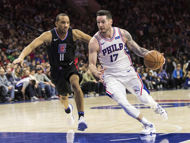 Sixers guard JJ Redick appeared to drop a slur into a video celebrating the Chinese New Year. (AP Photo)