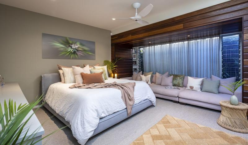 The bedroom of Shelley Craft's Byron Bay home