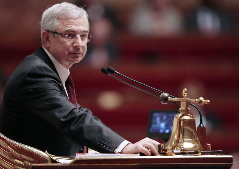 France's National Assembly President Claude Bartolone on February 12, 2013 at the French National Assembly in Paris