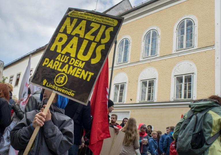 Anti-fascist protesters organise a rally outside the building every year