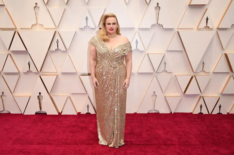 There's always someone who dresses up in Oscars gold, and this shimmery gold Jason Wu gown, paired with the bold red lip and soft waves, is an entirely successful experiment.