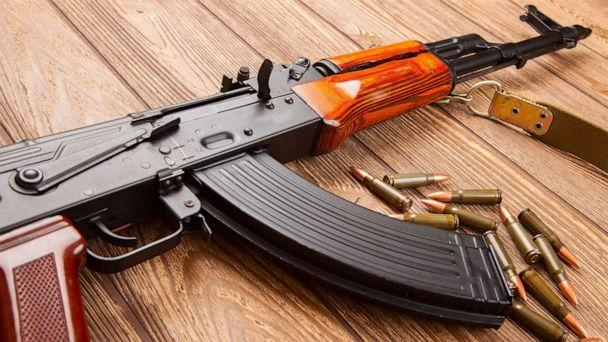 PHOTO: An AK-47 assault rifle and ammunition are pictured in an undated stock photo. (STOCK PHOTO/Shutterstock)