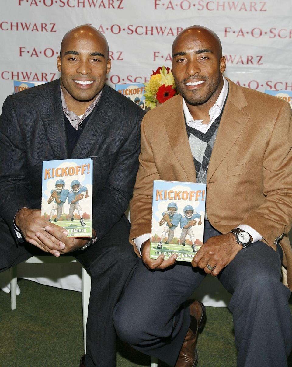 <p>Imagine having not one, but <em>two</em> pro athletes in your family. While Tiki is now an on-air personality, he previously played for the New York Giants as a running back, while his brother Ronde spent 6 years as a cornerback for the Tampa Bay Buccaneers. </p>