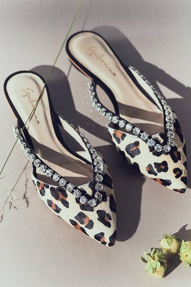 "<p>These <a href=""https://www.popsugar.com/buy/Guilhermina-Embellished-Slides-501379?p_name=Guilhermina%20Embellished%20Slides&retailer=anthropologie.com&pid=501379&price=135&evar1=fab%3Aus&evar9=45530840&evar98=https%3A%2F%2Fwww.popsugar.com%2Ffashion%2Fphoto-gallery%2F45530840%2Fimage%2F46928364%2FGuilhermina-Embellished-Slides&list1=shopping%2Cshoes%2Cflats%2Choliday%2Cgift%20guide%2Cnew%20years%20eve%2Choliday%20fashion&prop13=api&pdata=1"" rel=""nofollow"" data-shoppable-link=""1"" target=""_blank"" class=""ga-track"" data-ga-category=""Related"" data-ga-label=""https://www.anthropologie.com/shop/guilhermina-embellished-slides?category=shop-all-shoes-accessories&amp;color=029&amp;type=STANDARD"" data-ga-action=""In-Line Links"">Guilhermina Embellished Slides</a> ($135) are so major.</p>"