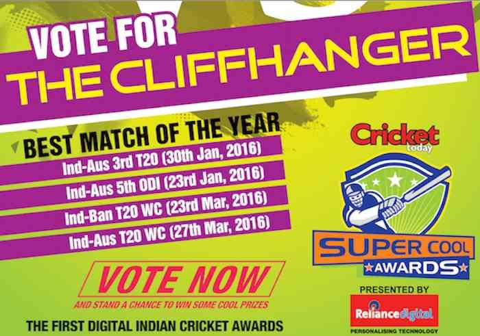 Vote for Best Match of the Year 2016