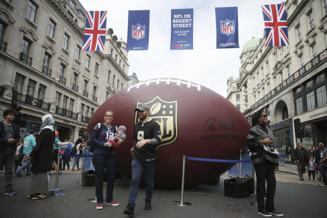 London will be host to three NFL games in the 2018 regular season, including one with the reigning Super Bowl champion Eagles. (AP)