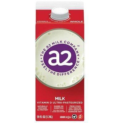 """<p><strong>a2 Milk</strong></p><p>target.com</p><p><strong>$3.99</strong></p><p><a href=""""https://www.target.com/p/a2-milk-whole-vitamin-d-ultra-pasteurized-59-fl-oz/-/A-51341947"""" rel=""""nofollow noopener"""" target=""""_blank"""" data-ylk=""""slk:Shop Now"""" class=""""link rapid-noclick-resp"""">Shop Now</a></p><p>Most cow milks marketed to the lactose-intolerant have added lactase to break down the hard-to-digest sugar. But a new type of milk is taking a different approach. The folks behind <a href=""""https://www.a2milk.com/"""" rel=""""nofollow noopener"""" target=""""_blank"""" data-ylk=""""slk:a2 Milk"""" class=""""link rapid-noclick-resp"""">a2 Milk </a>claim it's not necessarily the <em>lactose</em> that causes tummy troubles, but a protein called A1, a genetic mutation that spread through dairy cattle 8,000 years ago. A2 uses milk from cows that produce only the easier-to-digest A2 protein. Our testers liked that it tastes clean and fresh without the extra sweetness of lactose-free milks. </p>"""