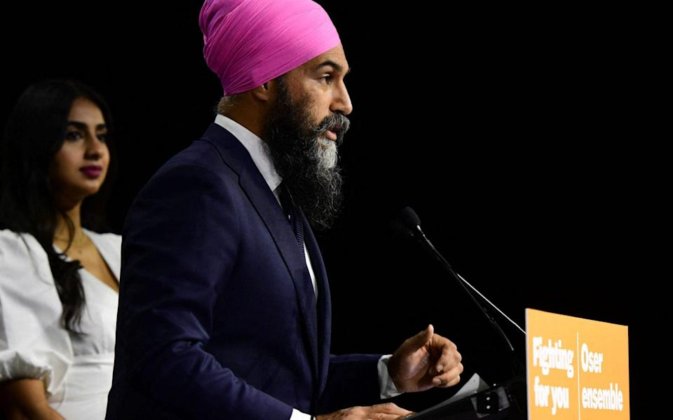 The New Democratic Party (NDP) leader Jagmeet Singh - Don MacKinnon/AFP