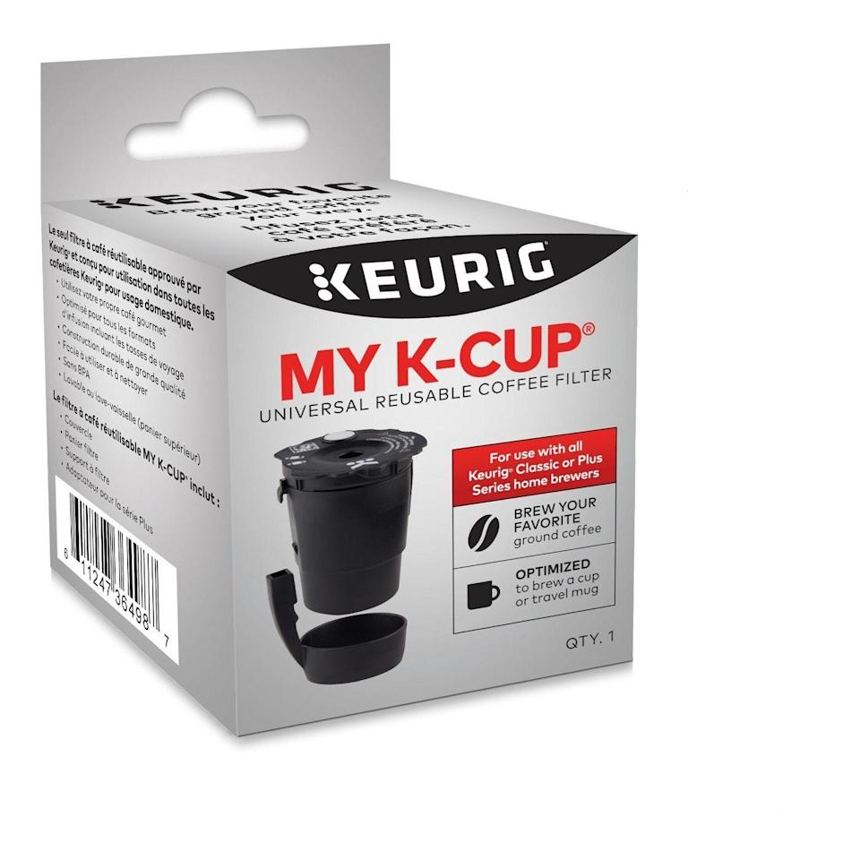 """<p><a class=""""link rapid-noclick-resp"""" href=""""https://www.target.com/p/keurig-my-k-cup-universal/-/A-52532575"""" rel=""""nofollow noopener"""" target=""""_blank"""" data-ylk=""""slk:BUY NOW"""">BUY NOW</a> <strong><em>$11, target.com</em></strong><br></p><p>For the environment, you know.</p>"""
