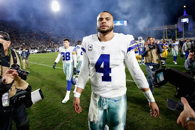 With an apparent extension on the horizon, Dak Prescott doesn't intend to take a discount he says Gisele Bundchen affords Tom Brady. (Getty)