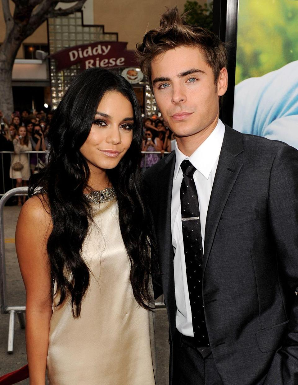 """<p>Who could forget that High School Musical's lead stars Vanessa Hudgens and Zac Efron dated throughout the franchise's duration? Vanessa and Zac had instant chemistry when they met on set in 2005. </p><p>The two dated for six years, and Vanessa continues to open up about the """"organic"""" relationship. 'We kinda blew up. It was this massive phenomenon all of a sudden and [all] eyes were on me,' <a href=""""https://people.com/tv/vanessa-hudgens-dating-zac-efron-stablilized-grounded-career/"""" rel=""""nofollow noopener"""" target=""""_blank"""" data-ylk=""""slk:she said"""" class=""""link rapid-noclick-resp"""">she said</a>. 'And it's just a really weird foreign thing to go through, and by being in a relationship, I feel like it kind of kept me stabilised and grounded, and I had someone to lean on who was going through it as well.'</p>"""