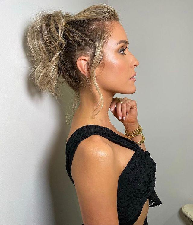 "<p>The easiest celeb-approved hairstyle for summer? A <strong>lived-in ponytail with loose layers and plenty of body</strong>. Spritz a <a href=""https://www.cosmopolitan.com/style-beauty/beauty/g28253173/texturizing-sprays/"" rel=""nofollow noopener"" target=""_blank"" data-ylk=""slk:texturizing spray"" class=""link rapid-noclick-resp"">texturizing spray</a> through your hair before you gather it into a ponytail—it'll help add some grit.</p><p><a href=""https://www.instagram.com/p/CLj8DVjBy_H/"" rel=""nofollow noopener"" target=""_blank"" data-ylk=""slk:See the original post on Instagram"" class=""link rapid-noclick-resp"">See the original post on Instagram</a></p>"