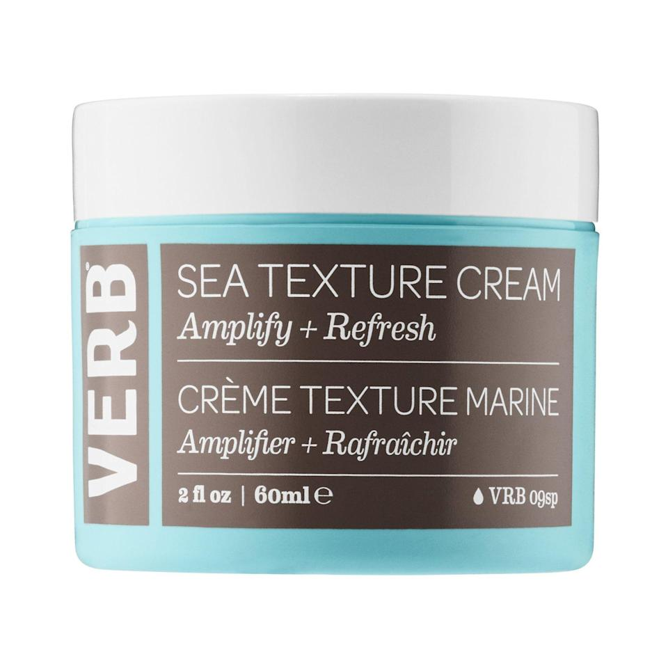 """<p>Texture creams are the new sea salt sprays — and we're very down for it. Sprays have a bad rep for making ends feel too dry, while molding creams like this one are soft-to-the-touch and just as good on wet hair as they are on dry.</p><p><strong>Verb</strong> Sea Texture Cream, $14, available at <a href=""""http://www.sephora.com/sea-texture-cream-P419437?skuId=1897636&icid2=just%20arrived:p419437"""" rel=""""nofollow noopener"""" target=""""_blank"""" data-ylk=""""slk:Sephora"""" class=""""link rapid-noclick-resp"""">Sephora</a>.</p>"""