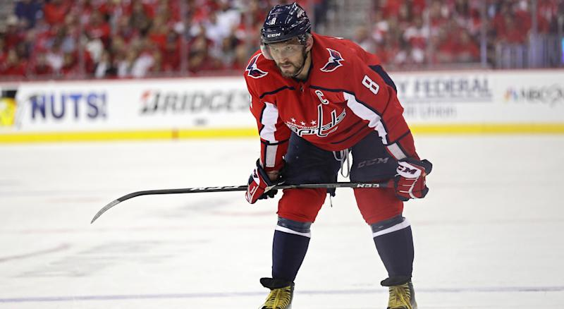 Alexander Ovechkin didn't commit to playing in the NHL past 2021. (Photo by Patrick Smith/Getty Images)