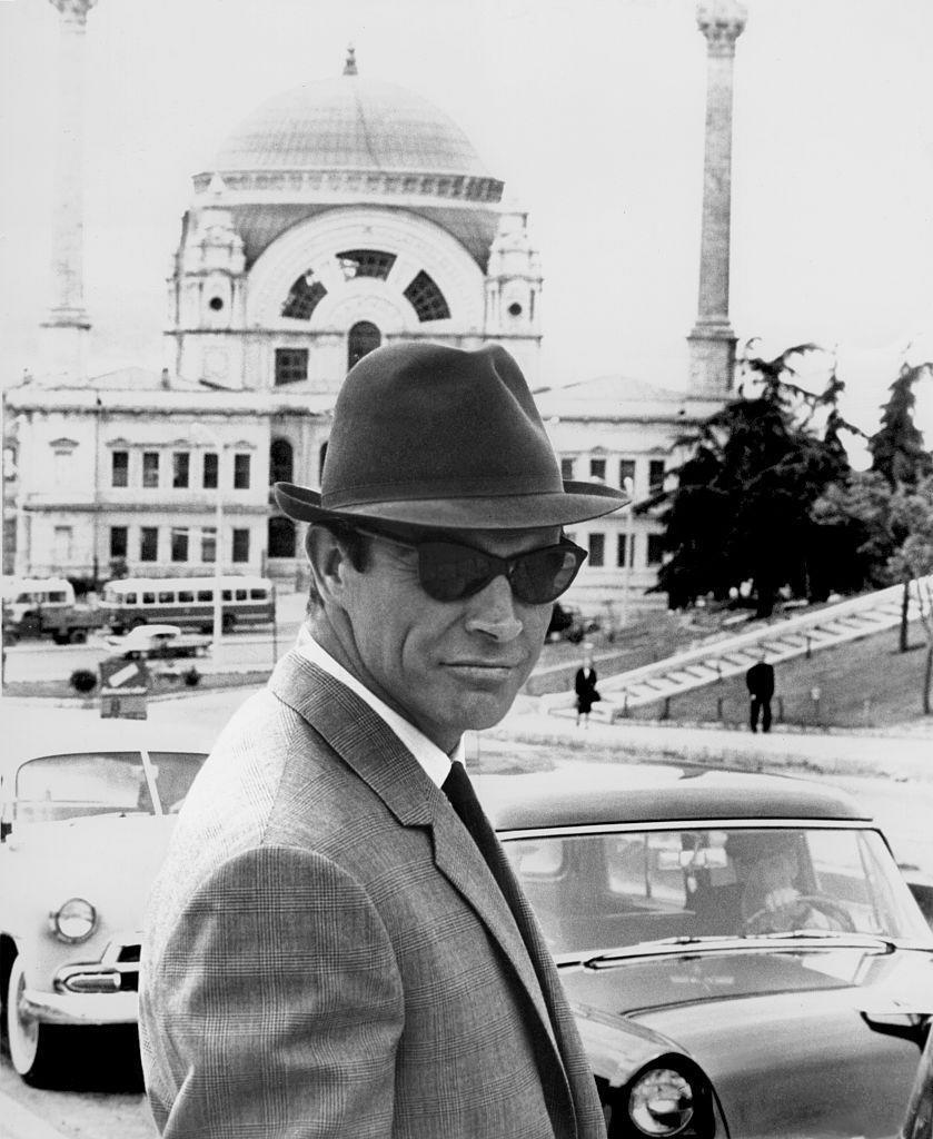 <p>Sean Connery on the set of 'From Russia with Love', 1963.</p>