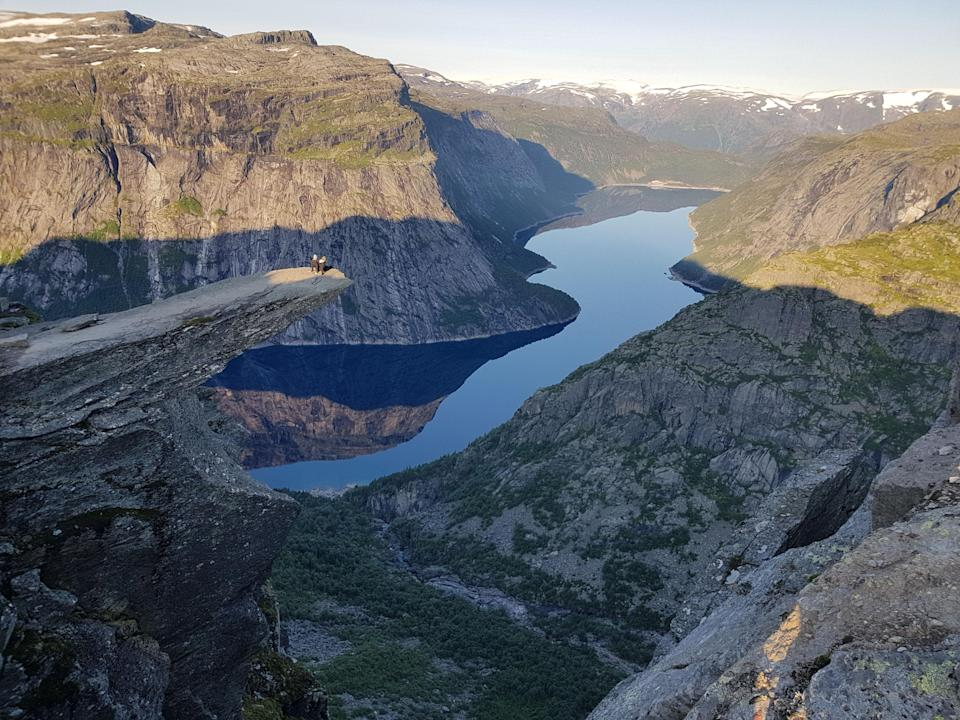 The famous site in south-western Norway (Trolltunga Adventures/Caters News)