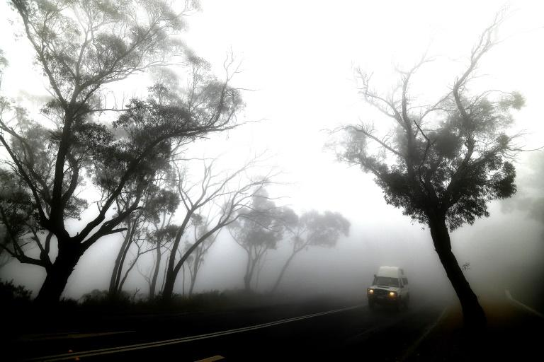 Smoke from bushfires - combined here with fog - has created huge problems for people across fire-hit areas (AFP Photo/SAEED KHAN)