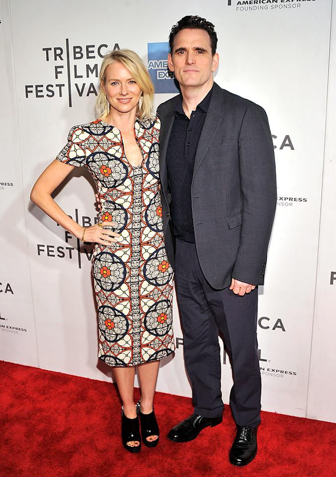 "NEW YORK, NY - APRIL 20:  Actors Naomi Watts and Matt Dillion attend the ""Sunlight Jr."" World Premiere during the 2013 Tribeca Film Festival on April 20, 2013 in New York City.  (Photo by Stephen Lovekin/Getty Images for Tribeca Film Festival)"