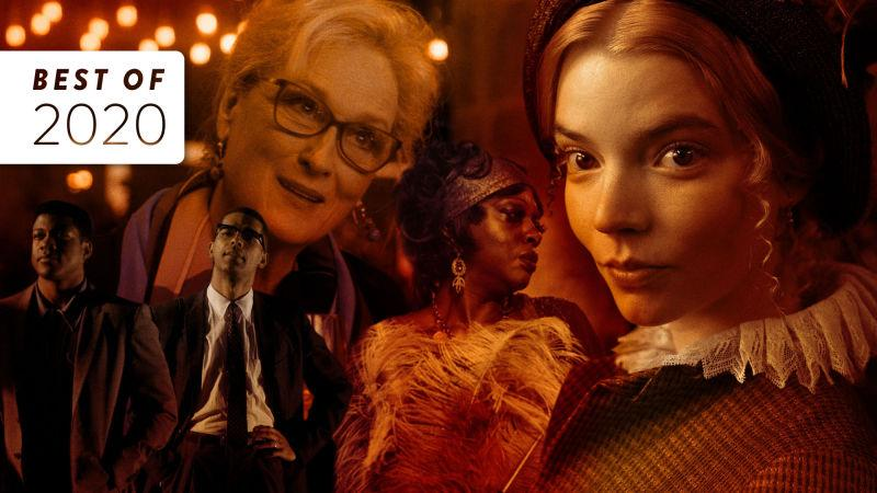 Clockwise from upper left: Let Them All Talk (Photo: HBO Max), Emma. (Photo: Focus Features), Ma Rainey's Black Bottom (Photo: David Lee), One Night In Miami… (Photo: Amazon Studios)
