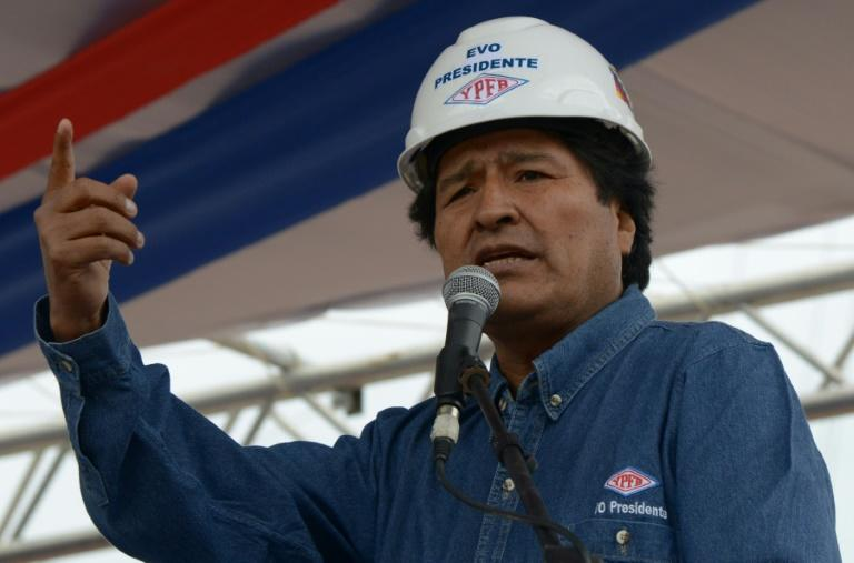 Bolivian President Evo Morales, pictured on June 18, 2015, pledged the oil exploration would not have detrimental environmental impacts