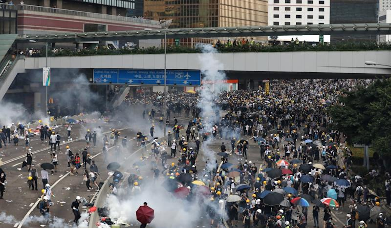 Beijing tells Hong Kong protesters not to become pawns in US-China trade war as it blames foreign powers for inflaming tensions in city over extradition bill