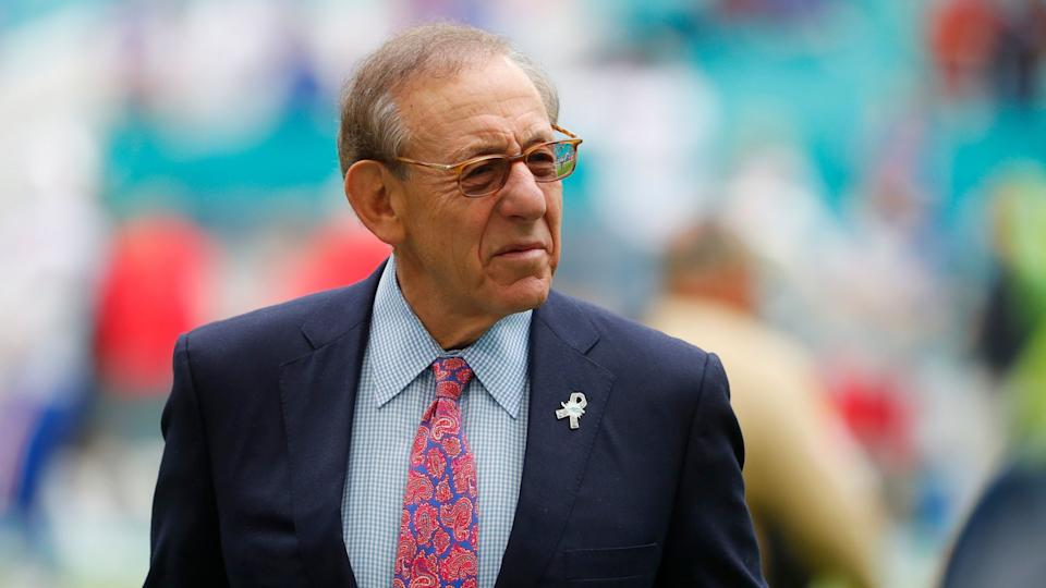Mandatory Credit: Photo by Wilfredo Lee/AP/Shutterstock (10762511a)Miami Dolphins owner Stephen Ross watches his team warm up before an NFL football game against the Buffalo Bills, in Miami Gardens, Fla.