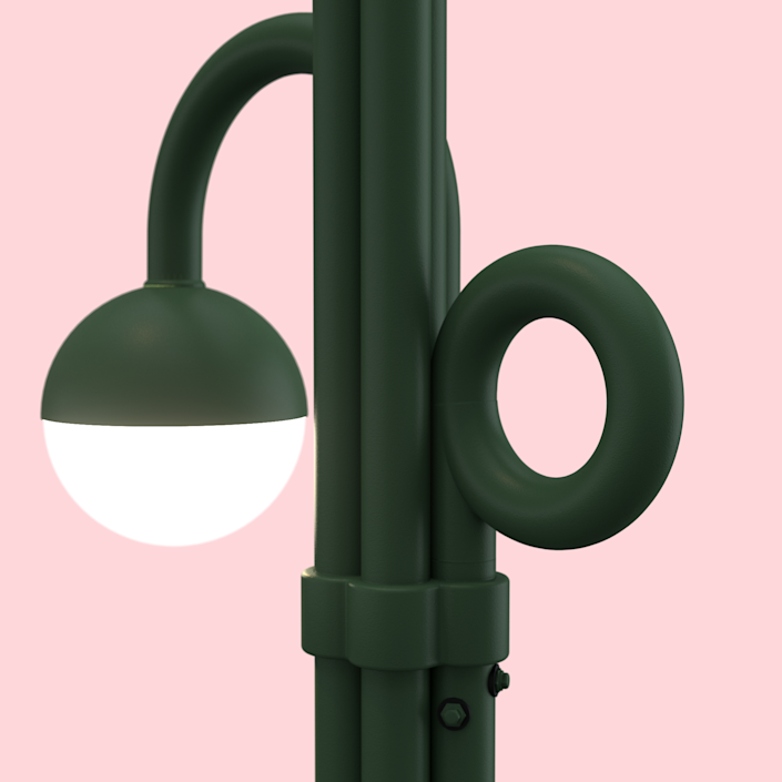 "<div class=""caption""> The streetlight design, which was inspired by a bouquet of flowers, allows for more future additions should the street or area require them. </div>"