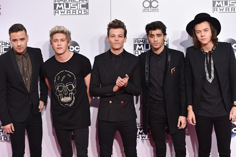 "FILE- In this Nov. 23, 2014, file photo, Liam Payne, from left, Niall Horan, Louis Tomlinson, Zayn Malik and Harry Styles of boyband One Direction arrive at the 42nd annual American Music Awards in Los Angeles.Malik said Wednesday, March 25, 2015, he is leaving chart-topping boy band One Direction ""to be a normal 22-year-old."" His bandmates said they were sad to see him go ""but we totally respect his decision and send him all our love for the future."" (Photo by John Shearer/Invision/AP, file)"