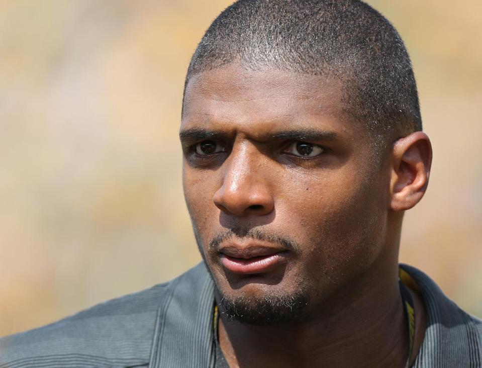 US college football player Michael Sam attends a game between the Missouri Tigers and South Dakota State Jackrabbits at Memorial Stadium on August 30, 2014 in Columbia (AFP Photo/Ed Zurga)