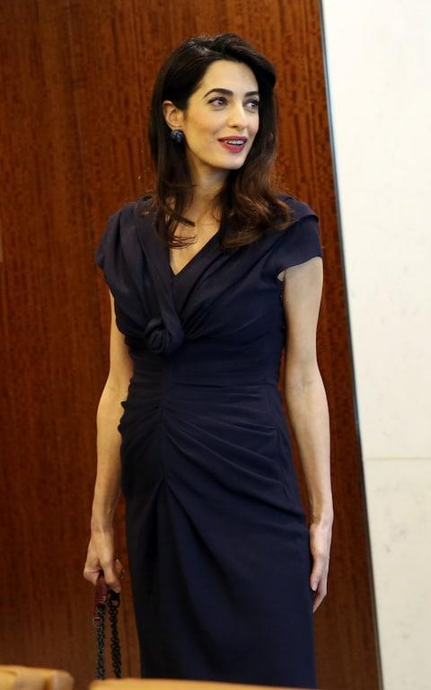 Amal Clooney wears Christian Dior