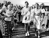 <p>Gibson wore white polos throughout her career as a tennis champion, oftentimes even covering them with cardigans during her matches. In 1956, she became the first Black athlete to win a Grand Slam title and earn back-to-back titles at Wimbledon and the US Championships. P.S. she was a pro golfer too.</p>