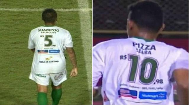 Serie D club Fluminense de Feira have been doing some not-so-subtle advertising for a local supermarket chain
