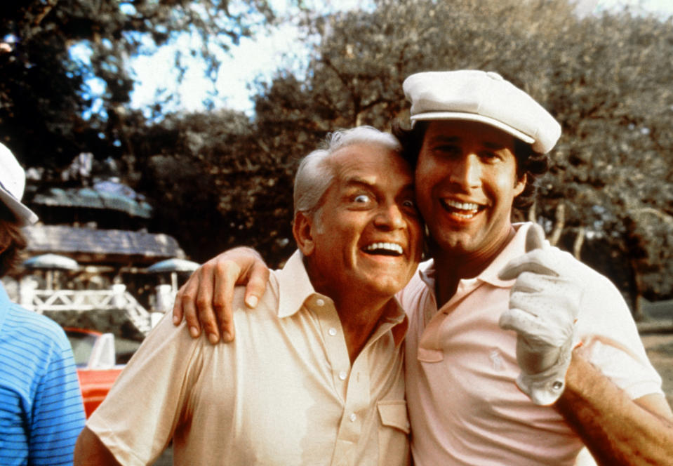 Ted Knight and Chase in <em>Caddyshack</em>. (Photo: Orion Pictures/Courtesy: Everett Collection.)
