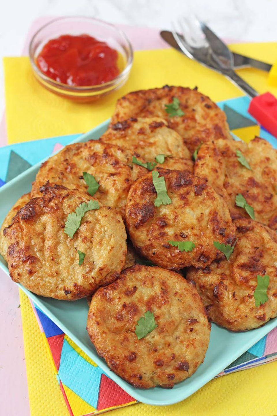 """<p>Trick your chicken nugget lover into trying some veggies with these cheesy bites.</p><p><strong>Get the recipe from <a href=""""http://www.myfussyeater.com/cauliflower-cheese-nuggets-2/"""" rel=""""nofollow noopener"""" target=""""_blank"""" data-ylk=""""slk:My Fussy Eater"""" class=""""link rapid-noclick-resp"""">My Fussy Eater</a>.</strong></p>"""