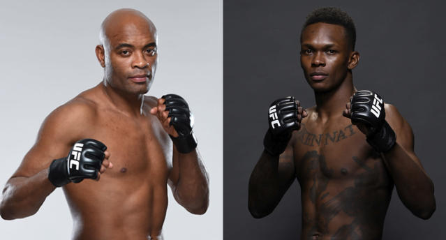 "The legend Anderson ""The Spider"" Silva takes on Israel ""The Last Stylebender"" Adesanya at UFC 234 on Saturday. (Getty Images)"