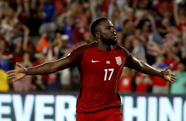 "<a class=""link rapid-noclick-resp"" href=""/soccer/players/jozy-altidore/"" data-ylk=""slk:Jozy Altidore"">Jozy Altidore</a> got two goals in a 4-0 U.S. win over Panama. (Getty)"