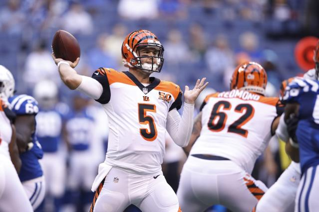 AJ McCarron has agreed to a two-year deal with the Buffalo Bills. (Getty Images)