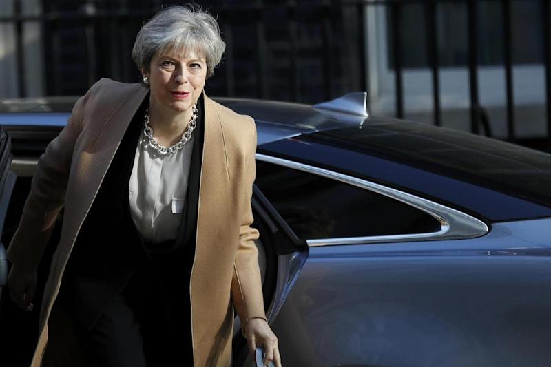 Doing a runner: Theresa May refuses to jostle with Labour leader Jeremy Corbyn: REUTERS