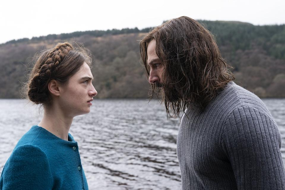 """Selah (Raffey Cassidy) begins to question her faith in enigmatic Shepherd (Michiel Huisman) in """"The Other Lamb."""""""