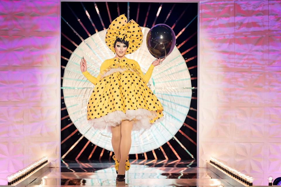 Cherry Valentine on the Drag Race UK runway (Photo: BBC/World of Wonder/Guy Levy)